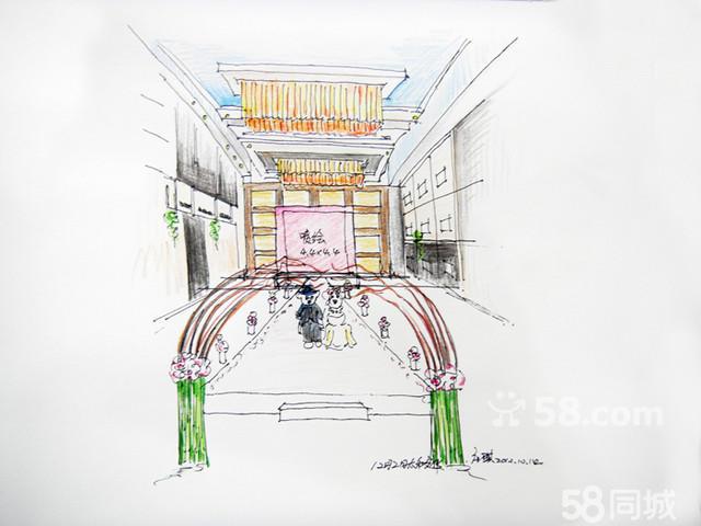 场馆设计手绘效果图