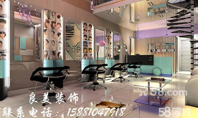 供应成都理发店装修设计 高端理发店设计