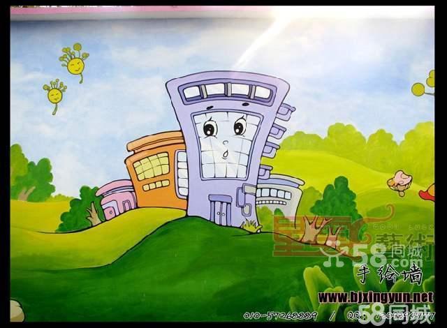 星云艺术作品 墙绘 手绘墙