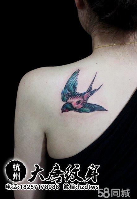 燕子纹身 纹身图案 纹身图片