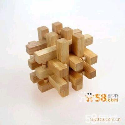 木质鲁班锁—58商家店铺