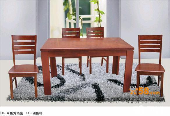 纯水曲柳木实木餐桌(椅)