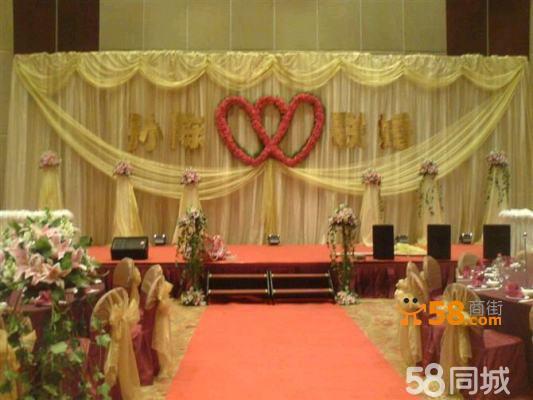 酒店森系婚礼舞台布置分享展示