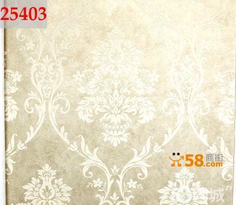 欧式无仿布客厅卧室墙纸马士革沙发壁纸25405