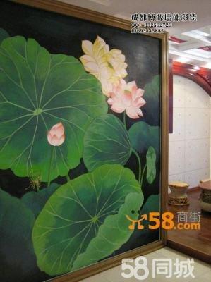手绘墙画艺术即是很好的选择,近年来很多成都地区的茶楼装修也都注重